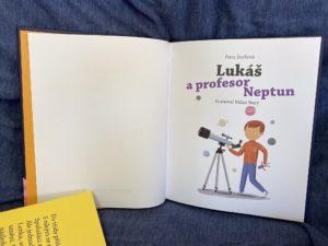 kniha pro děti o autismu Lukáš a proefesor Neptun